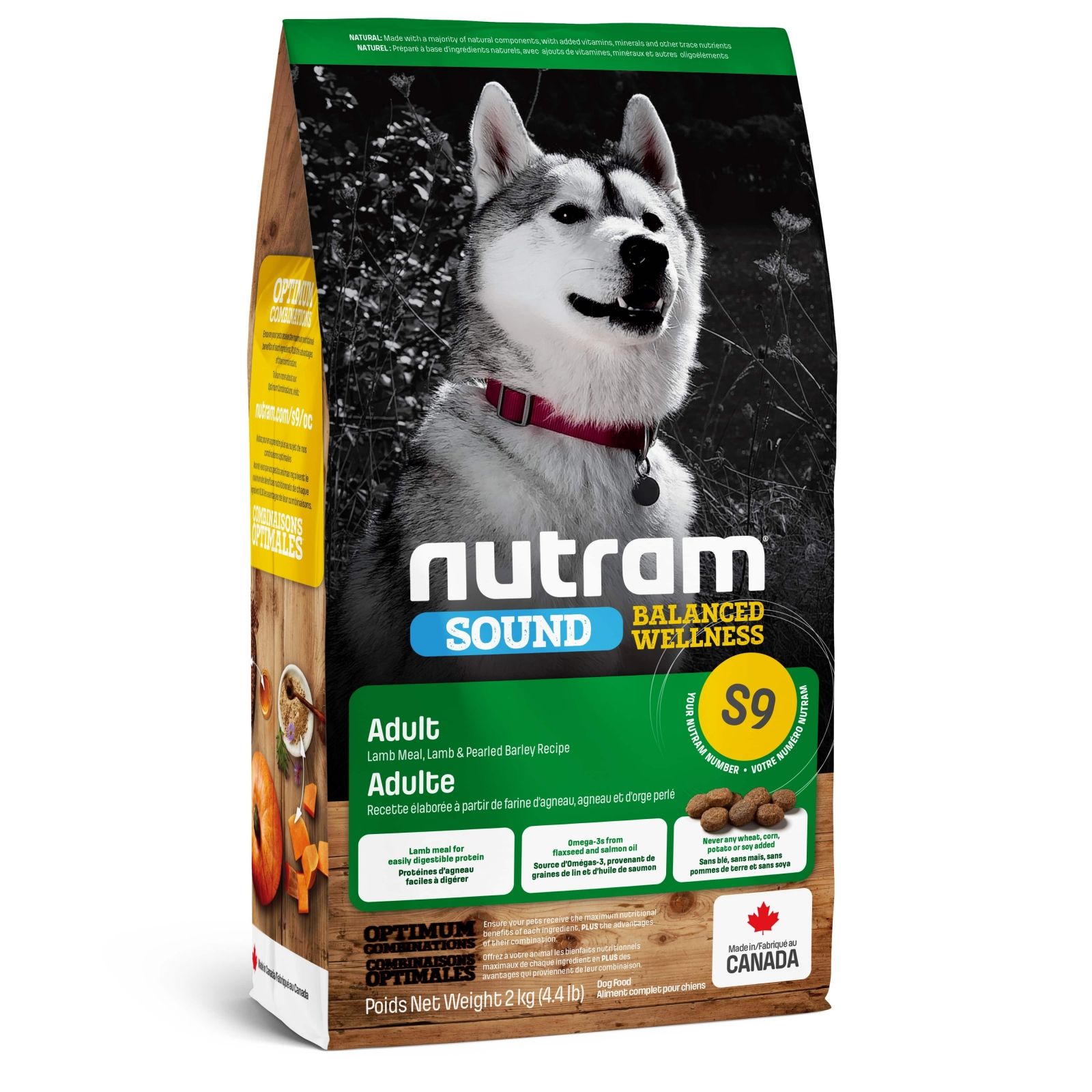 Nutram S9 Sound Balanced Wellness Natural Lamb Adult Dog корм для собак с ягненком